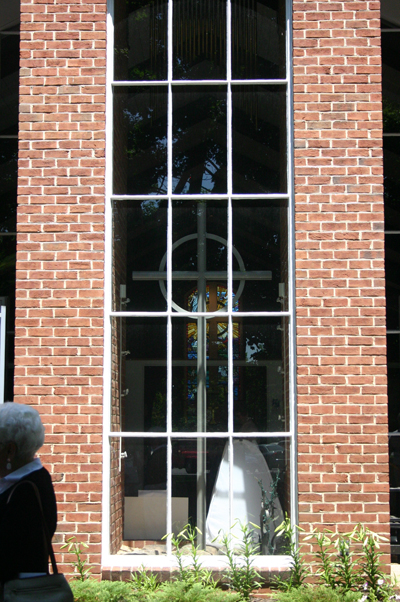 cross in window